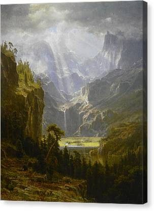 The Rocky Mountains Lander's Peak Canvas Print by Celestial Images