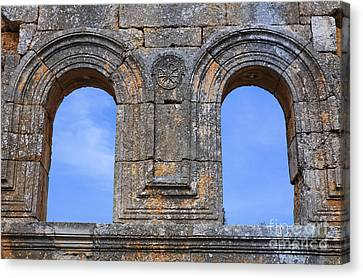 The Ruins Of The Church Of St Simeon Syria Canvas Print by Robert Preston