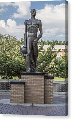 The Spartan Statue At Msu Canvas Print by John McGraw