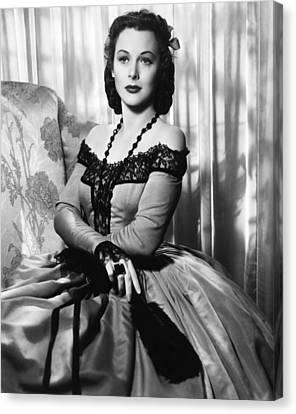 The Strange Woman, Hedy Lamarr, 1946 Canvas Print by Everett