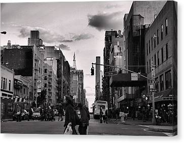 The Streets Of New York City Canvas Print by Dan Sproul