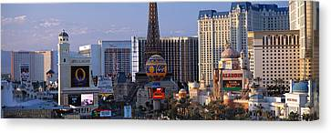 The Strip Las Vegas Nv Canvas Print by Panoramic Images