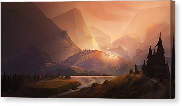 The Valley Canvas Print by Kristina Vardazaryan