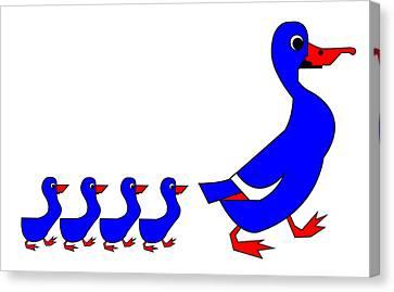 The Wonderful Copenhagen Ducks Canvas Print by Asbjorn Lonvig