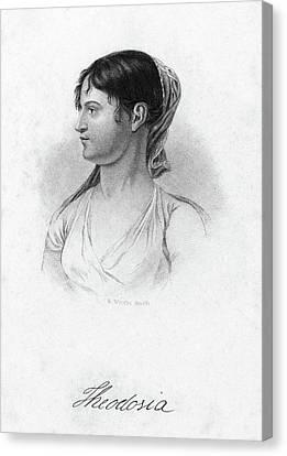 Theodosia Burr (1783-1813) Canvas Print by Granger