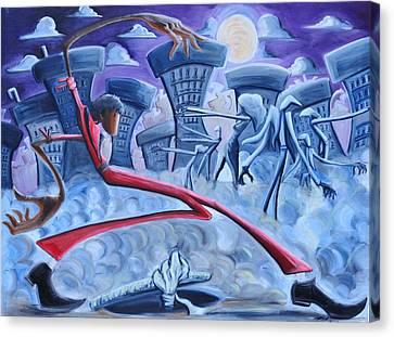 Thriller Canvas Print by Tu-Kwon Thomas