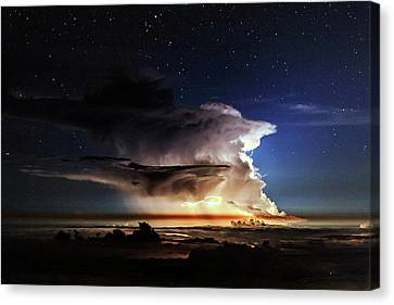 Thunderstorm From Haleakala Canvas Print by Babak Tafreshi