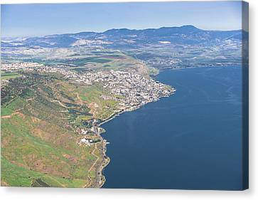Tiberias, Sea Of Galilee Canvas Print by Ofir Ben Tov