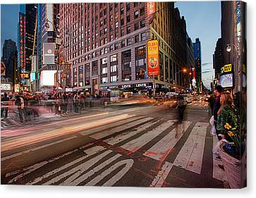 Times Square Series Canvas Print by Josh Whalen