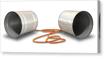 Tin Telephones Canvas Print by Allan Swart