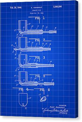 Tobacco Pipe Patent 1944 - Blue Canvas Print by Stephen Younts