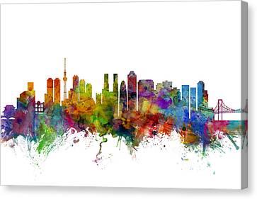 Tokyo Japan Skyline Canvas Print by Michael Tompsett