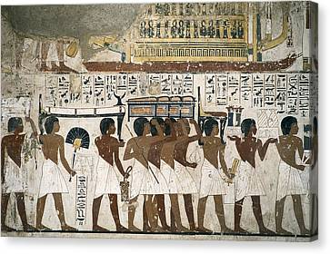Tomb Of Ramose. Egypt. Dayr Al-bahri Canvas Print by Everett
