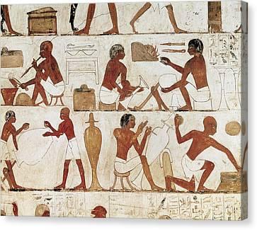 Tomb Of Rekhmire. Egypt. Dayr Al-bahri Canvas Print by Everett