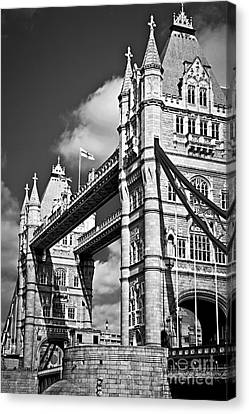Tower Bridge In London Canvas Print by Elena Elisseeva