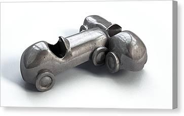 Toy Car Collision Canvas Print by Allan Swart
