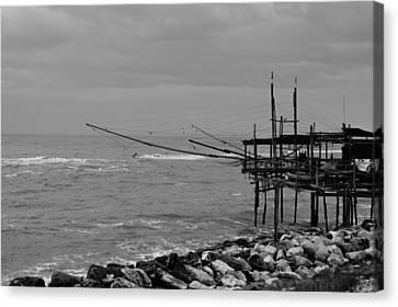 Trabocco On The Coast Of Italy  Canvas Print by Andrea Mazzocchetti