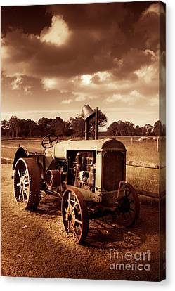 Tractor From Yesteryear Canvas Print by Jorgo Photography - Wall Art Gallery
