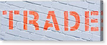 Trade Sign Canvas Print by Tom Gowanlock