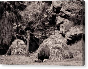Traditional Cahuilla Indian Huts Canvas Print by Sandra Selle Rodriguez