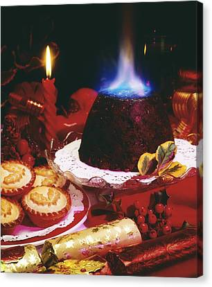Traditional Christmas Dinner In Ireland Canvas Print by The Irish Image Collection