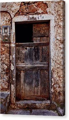 Traditional Door Canvas Print by Emmanouil Klimis