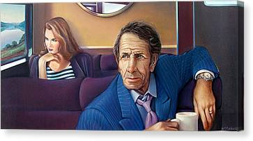 Train Of Thought Canvas Print by Patrick Anthony Pierson