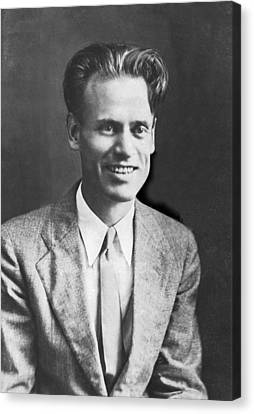 Tv Pioneer Philo Farnsworth Canvas Print by Underwood Archives