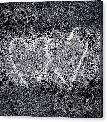 Two Hearts Graffiti Love Canvas Print by Carol Leigh