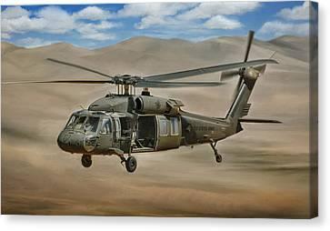 Uh-60 Blackhawk Canvas Print by Dale Jackson