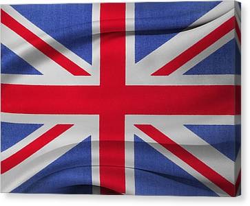 Union Jack Flag Canvas Print by Les Cunliffe