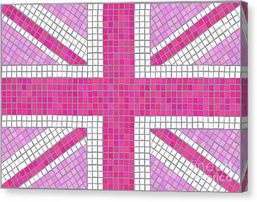 Union Jack Pink Canvas Print by Jane Rix