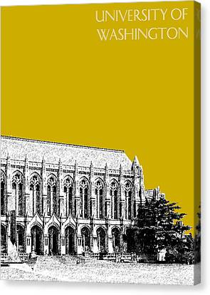 University Of Washington - Suzzallo Library - Gold Canvas Print by DB Artist