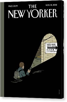 Untitled Canvas Print by Adrian Tomine
