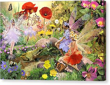 Fairies And Frog Prince Canvas Print by Steve Read