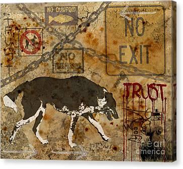 Urban Dog Canvas Print by Judy Wood