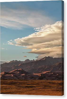 Usa, Colorado, Great Sand Dunes Canvas Print by Ann Collins