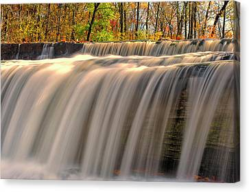 Usa, Indiana Cataract Falls State Canvas Print by Rona Schwarz