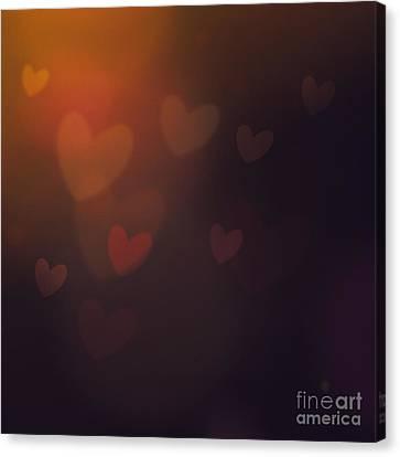 Valentines Background Canvas Print by Mythja  Photography
