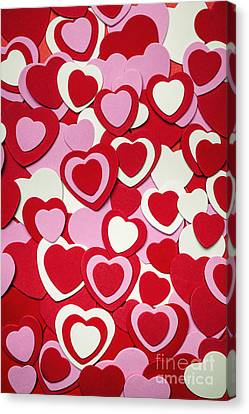Valentines Day Hearts Canvas Print by Elena Elisseeva