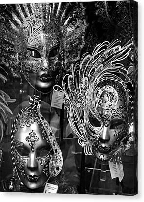 Venetian Carnival Masks Canvas Print by Tom Bell
