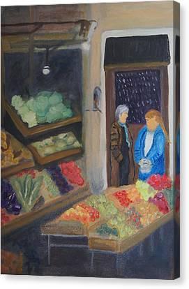 Venice Fruit Market Canvas Print by Kristine Bogdanovich
