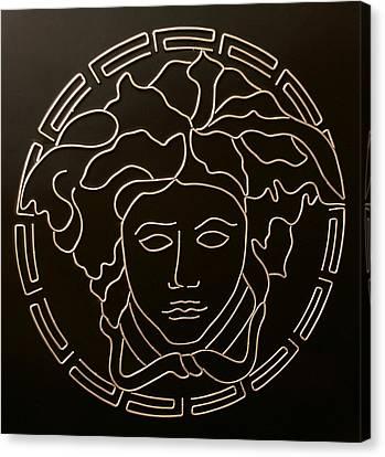 Versace Medusa Head Canvas Print by Peter Virgancz