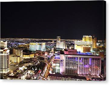 View From Eiffel Tower In Las Vegas - 01133 Canvas Print by DC Photographer