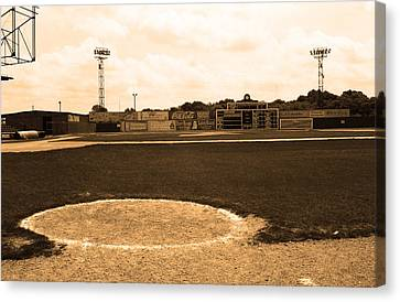 View From The Dugout Canvas Print by Frank Romeo