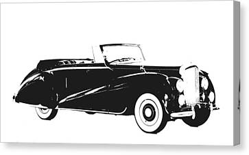 Vintage Car Black And White I Canvas Print by Art Spectrum