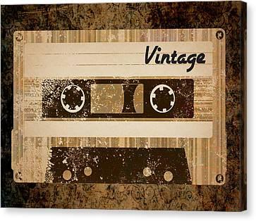 Vintage Cassette Canvas Print by Sara Ponte
