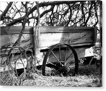 Vintage Farm Wagon Canvas Print by Will Borden