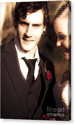 Vintage Groom Canvas Print by Jorgo Photography - Wall Art Gallery