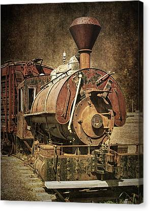 Vintage Locomotive Train Engine Canvas Print by Randall Nyhof